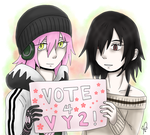 Vocaloid Amino Contest Entry - Vote 4 VY2 by Ayatonic