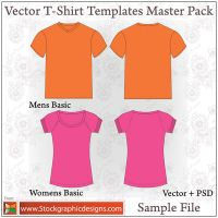 Vector T-shirt Templates - PSD by Stockgraphicdesigns