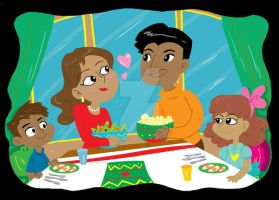 Dinner with the family by MaryBellamy