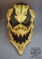 New Harlequin skull mask by Bakenekoya