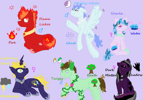 Elemental Pony Adopts [CLOSED] by LastbutnotAlise