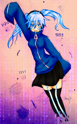 Mekaku city actors Ene by Sakenae-STH