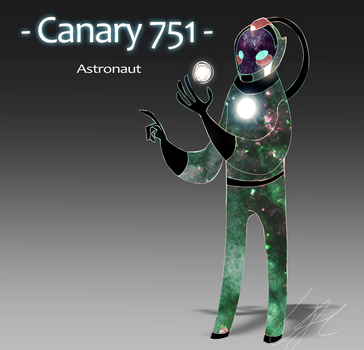 Canary 751 astronaut character by jaunty-eyepatch
