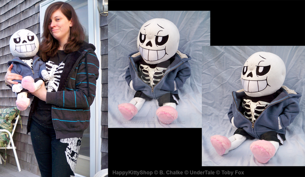 Sans Plushie by HappyKittyPlushies