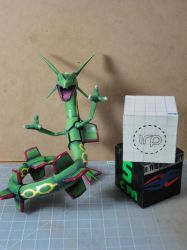 Rayquaza papercraft Size comparison by BRSpidey