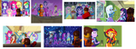 Equestria Girls - 7 Emmet's With Main Characters by Ghostbustersmaniac