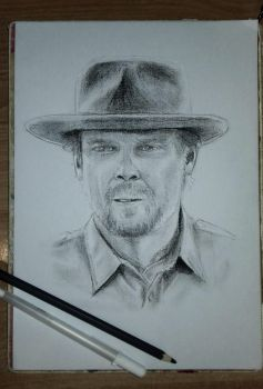 Chief Hopper by nahomira