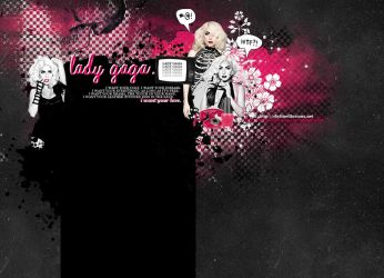 Lady Gaga Layout by SkylineIllusions