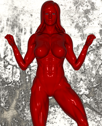 Red Bodybuilding Mannequin 3 by chimatronx