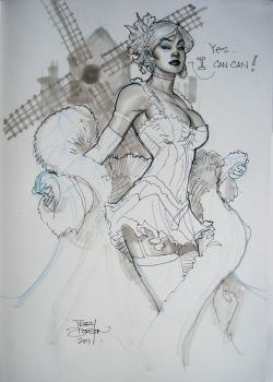 Emma Frost Can Can SDCC2011 by TerryDodson