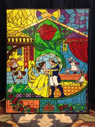 Beauty and the Beast Duct Tape Art by DuctTapeDesigns
