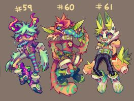 [closed] Adoptables : 59 - 61 by HJeojeo