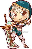 Chibi Commission: Riven by Blatterbury