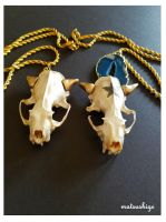 Cubone and Alolan Marowak Necklaces by PokeShoppe
