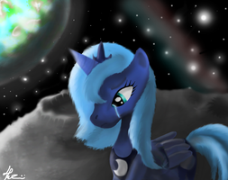Luna on the Moon by Bronyontheway