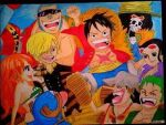2014 Drawing - One Piece (My 25th Commission Art) by nielopena