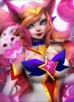 Fanart of Starguardian Ahri by Y0UI