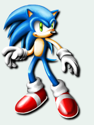 Sonic on gimp by El-Sato