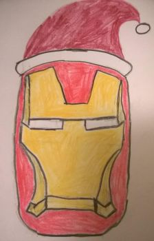 Merry Christmas from Iron Man by Divarose
