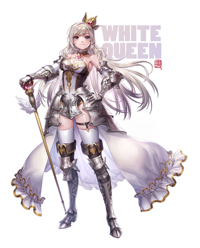 White Queen by hotpppink