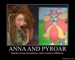 Demotivational P. - Frozen-PKMN - Anna and Pyroar