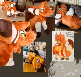 Twisted The Fox Plushie Commission by Human-Total