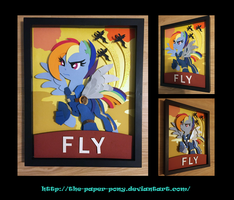 11x14 War Rainbow Dash Poster Shadowbox by The-Paper-Pony