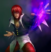 Iori Yagami by WolfMagnum