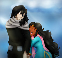 Comm - Aizawa and Roopa by SubduedMoon