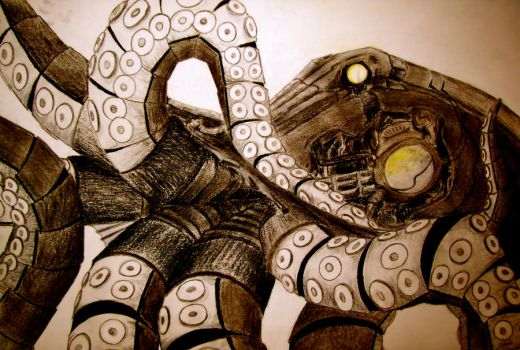 Steampunk Octopus by Nimrod-The-Artist