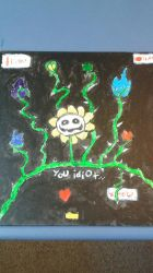 Flowey painting  by shadica225