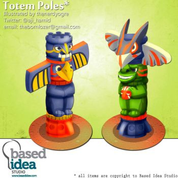 Totem Poles by thenerdyogre