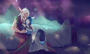 Commission to Rowan (true love in Teldrassil) by ipheli