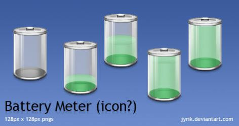 Battery icon set by JyriK