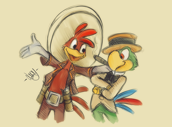 Panchito y Jose by BioV-xen