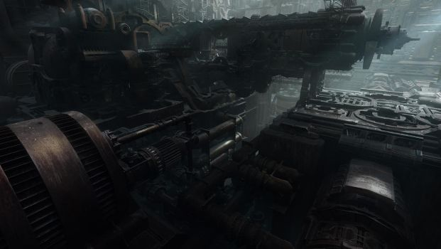 Derelict Ship Interior by everlite