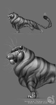 Revised sketch: tyger by Noukah