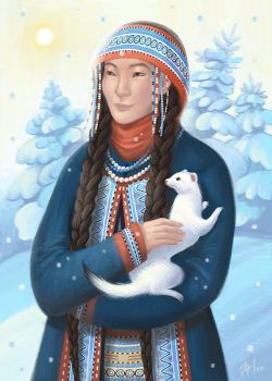 Lady with an Ermine by greenpengua