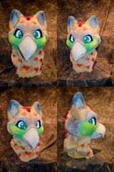 Luna the Gryphon Head by temperance