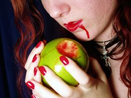 Eating Bloody Apples by Gealach