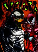 Venom And Carnage1 by Roland-Harrison
