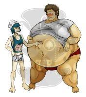 Contrast ChubxChaser: Cody x Hector by LordFFParaPhilum