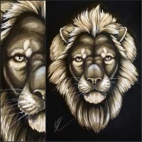 Lion Painting by Silk86
