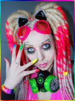 . rainbow make-up . by Countess-Grotesque