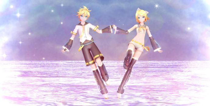 [MMD] Rin and Len ~Stardust~ by PokerHioko