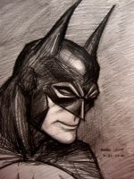 Batman (portrait) by myconius