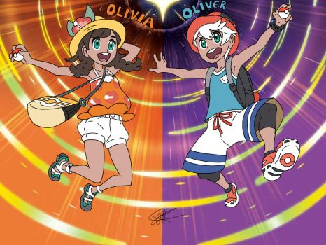 Olivia and Oliver (Ultra Sun and Moon Ver.) by kaitlen-the-hedgehog