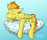 Sleepy Spithorse by KamiThePony