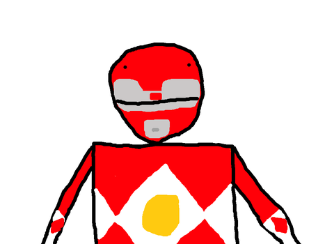 Red Ranger with Power Scope by PikachuxAsh