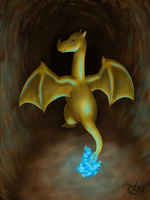 Electrical Charizard by Jupiter-SG